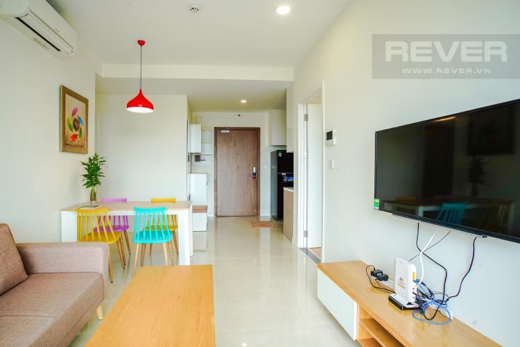 Phòng Khách Cho thuê căn hộ Masteri Millennium 2PN, block A, đầy đủ nội thất, view sông, Bitexco và Landmark 81