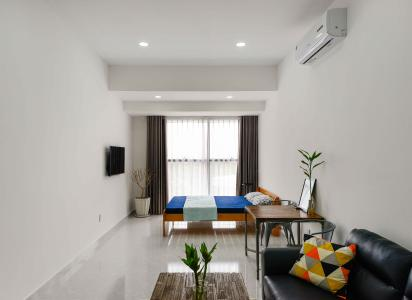 Bán hoặc cho thuê officetel The Sun Avenue, block 4, diện tích 50m2, đầy đủ nội thất, view thoáng