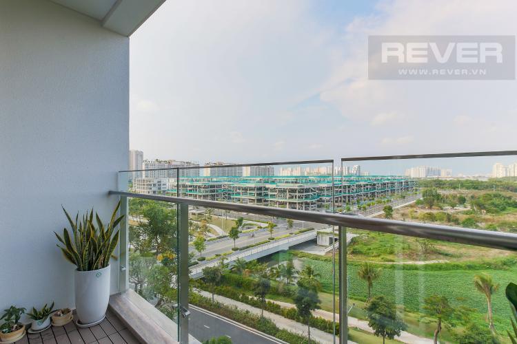 Balcony phòng ngủ Cho thuê căn hộ Sarica Sala Đại Quang Minh 3PN, đầy đủ nội thất, view công viên mát mẻ
