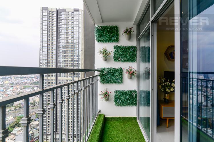 View Balcony Cho thuê căn hộ Vinhomes Central Park tầng cao 2PN 2WC, đầy đủ nội thất tiện nghi