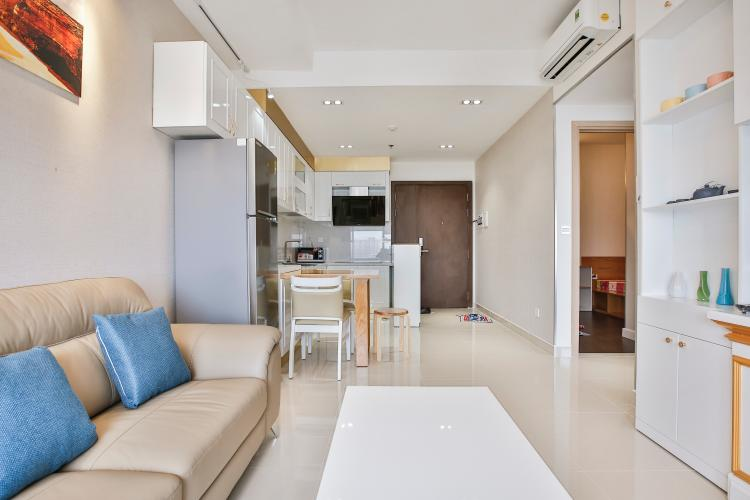 Phòng Khách Căn hộ RiverGate Residence 2 phòng ngủ tầng cao tháp A view sông