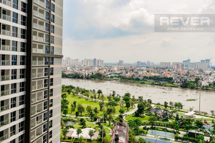 view Căn góc Vinhomes Central Park tầng trung Park 2 đầy đủ nội thất