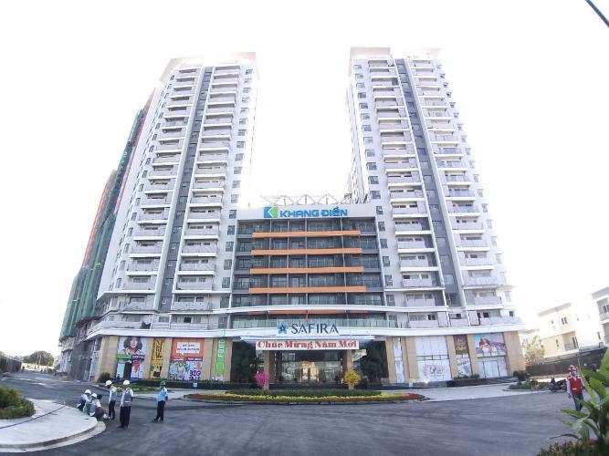 ngoài cổng Bán căn hộ Safira Khang Điền 1PN+1, tầng 21, DT 43m2