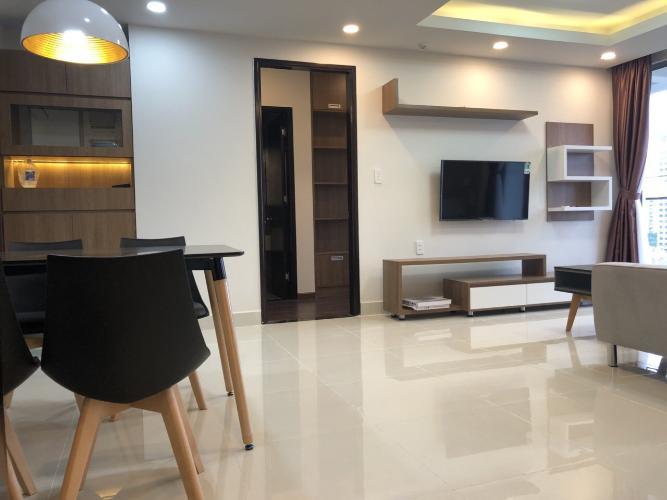 Phòng khách Happy Residence Căn hộ Happy Residence tầng trung, đầy đủ nội thất.