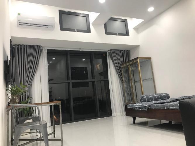Phòng khách Officetel The Sun Avenue  Cho thuê officetel The Sun Avenue tầng thấp, block 4, diện tích 41m2 - 1 phòng ngủ, đầy đủ nội thất