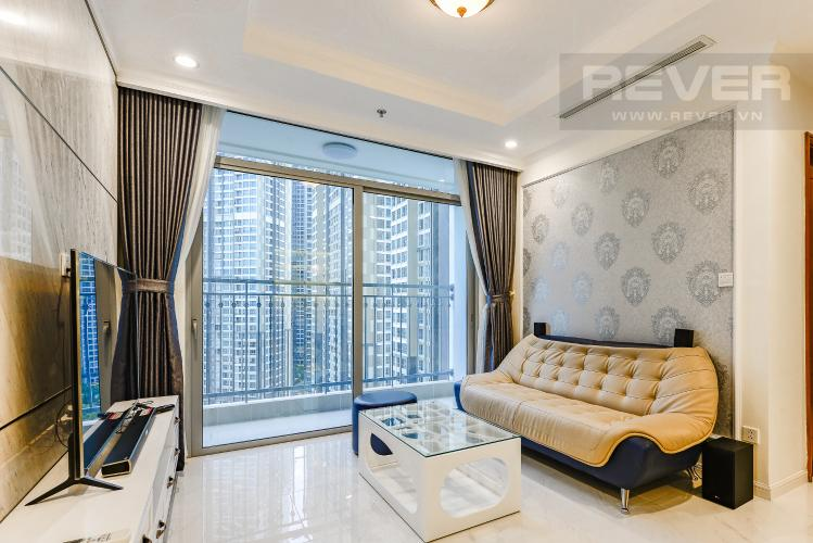 Phòng khách Căn hộ Vinhomes Central Park 3 phòng ngủ tầng trung L5 nội thất đẹp