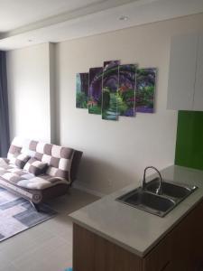 Cho thuê căn hộ Diamond Island - Đảo Kim Cương 1PN, tháp Canary, đầy đủ nội thất, view sông thông thoáng