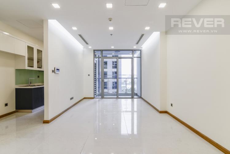 Phòng Khách Căn hộ Vinhomes Central Park 2 phòng ngủ nằm ở tầng thấp P7 view hồ bơi