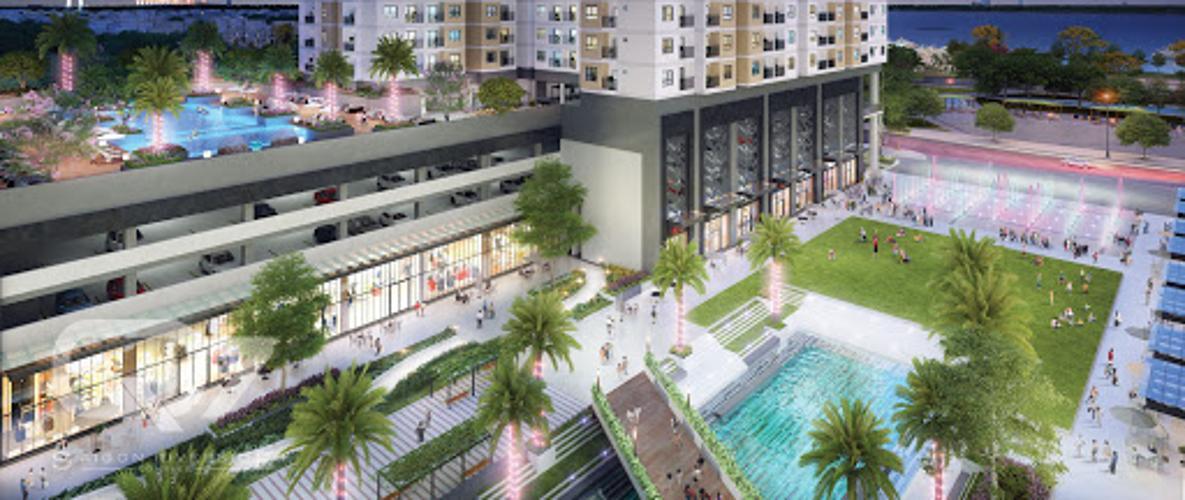 Nôi khu - Hồ bơi Q7 Sài Gòn Riverside Shophouse Q7 Saigon Riverside tầng thương mại, view nội khu.