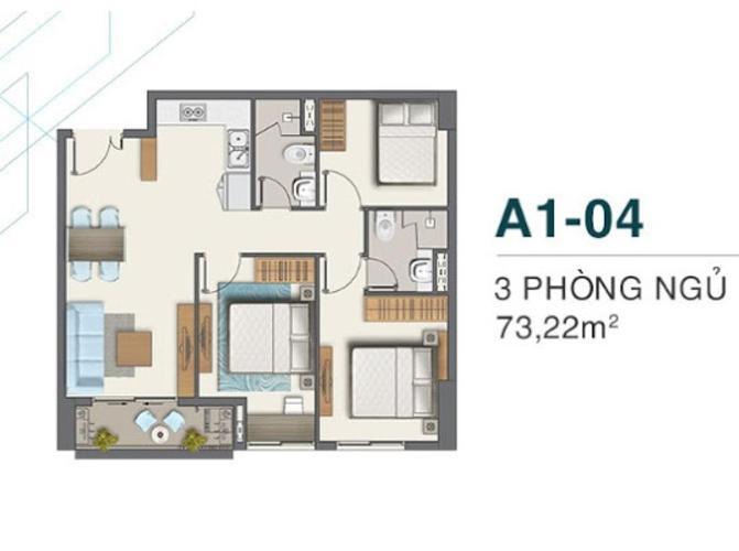 Bán căn hộ Q7 Boulevard thiết kế 2 phòng ngủ diện tích 73.22m2