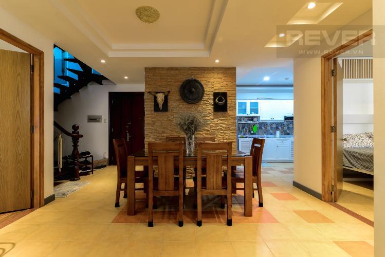 Phòng Ăn Cho thuê căn hộ chung cư Phúc Thịnh diện tích 196m2 3PN 3WC, nội thất cao cấp, view thành phố