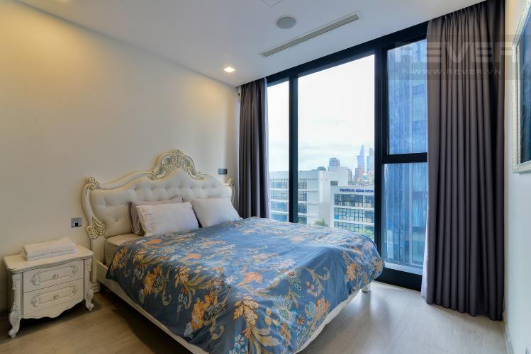 Phòng Ngủ 1 Cho thuê căn hộ Vinhomes Golden River 2PN, tầng thấp, tháp The Aqua 3, đầy đủ nội thất, view sông thoáng mát
