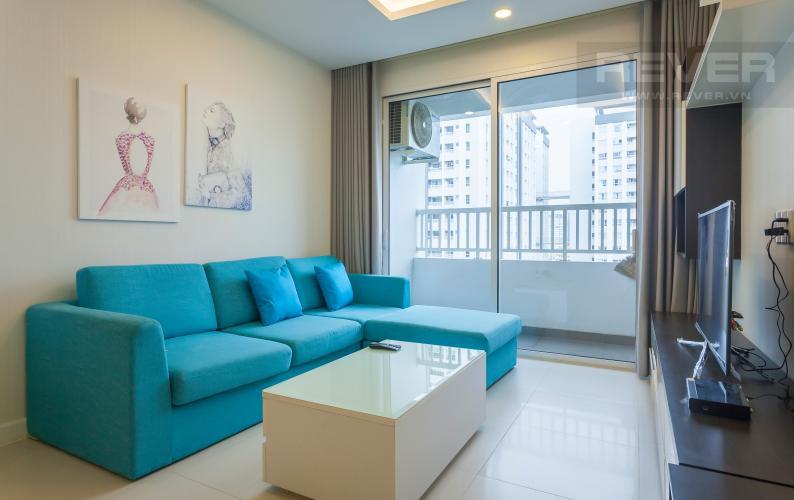 Phòng khách Căn hộ Lexington Residence tầng trung LA, 2 phòng ngủ, view về hồ bơi nội khu