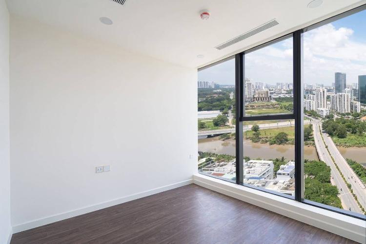 Phòng ngủ căn hộ Sunshine City Saigon Bán office-tel Sunshine City Saigon tầng cao nhìn ra thành phố.