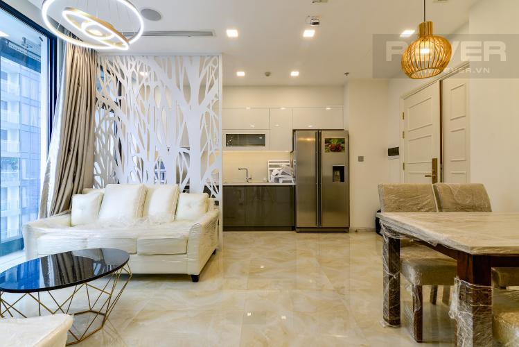 Phòng Khách Căn hộ Vinhomes Golden River 2PN, đầy đủ nội thất, view hồ bơi và sông Sài Gòn