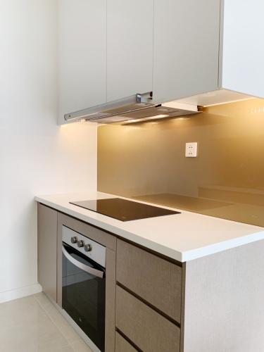 Phòng bếp căn hộ Masteri  Millennium Cho thuê căn hộ Masteri Millennium thuộc tầng trung, 1 phòng ngủ, diện tích 30m2, đầy đủ nội thất