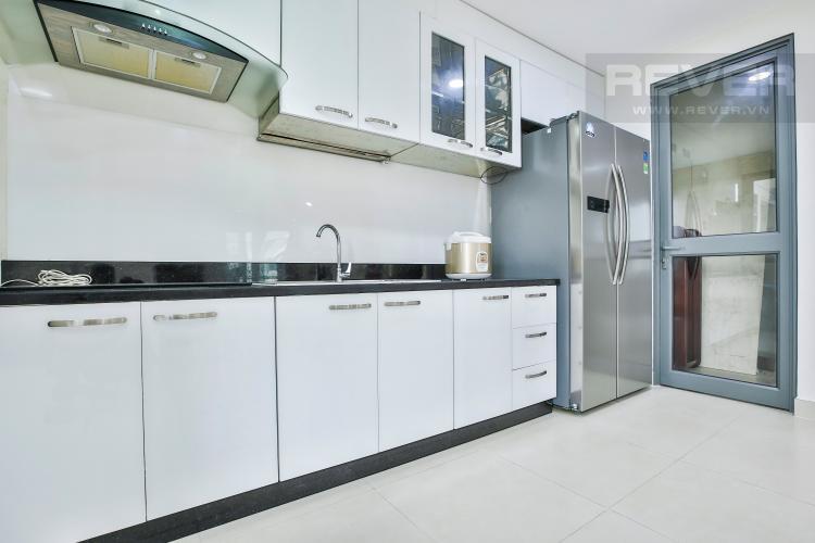 Phòng Bếp Căn ghép Masteri Thảo Điền 4 phòng ngủ tầng cao tháp T1 đầy đủ nội thất