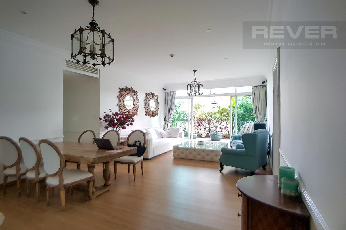 Phòng khách Bán hoặc cho thuê căn hộ sân vườn The Vista An Phú 3PN, tháp T3, diện tích 220m2, đầy đủ nội thất