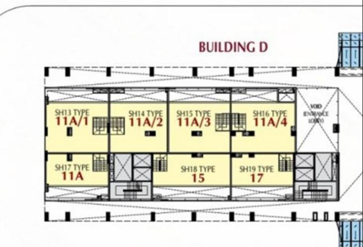 Mặt bằng tầng Căn hộ Phú Mỹ Hưng Midtown Shop-house Phú Mỹ Hưng Midtown thô, dễ dàng lên ý tưởng concept riêng.