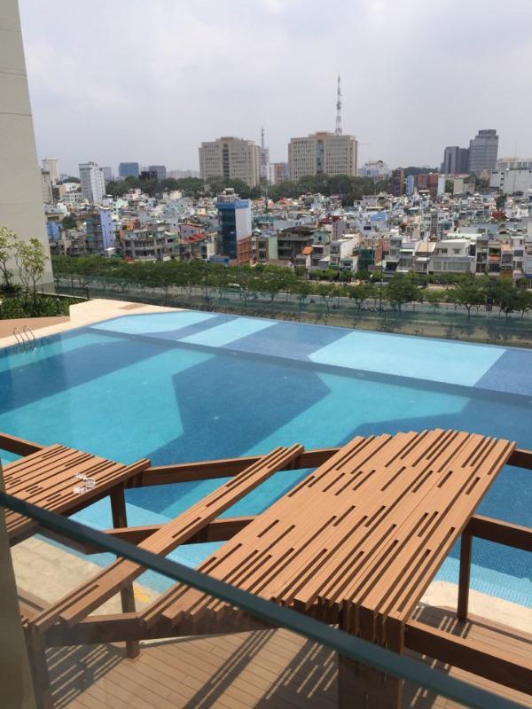 86f55addfd9b1bc5428a Bán căn hộ The Gold View 2PN, tháp A, diện tích 91m2, đầy đủ nội thất, view trực diện hồ bơi