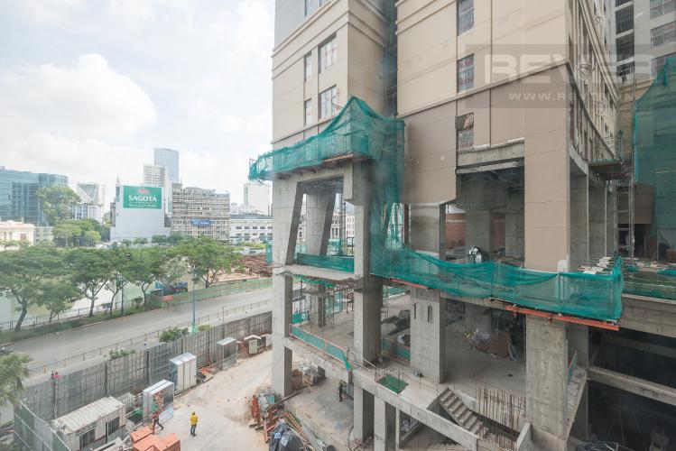 View Căn hộ The Tresor 1 phòng ngủ tầng thấp TS1 nội thất đầy đủ