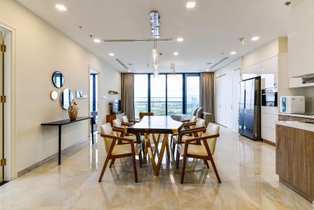 Căn hộ Vinhomes Golden River tầng trung, tòa A4, 3 phòng ngủ, full nội thất