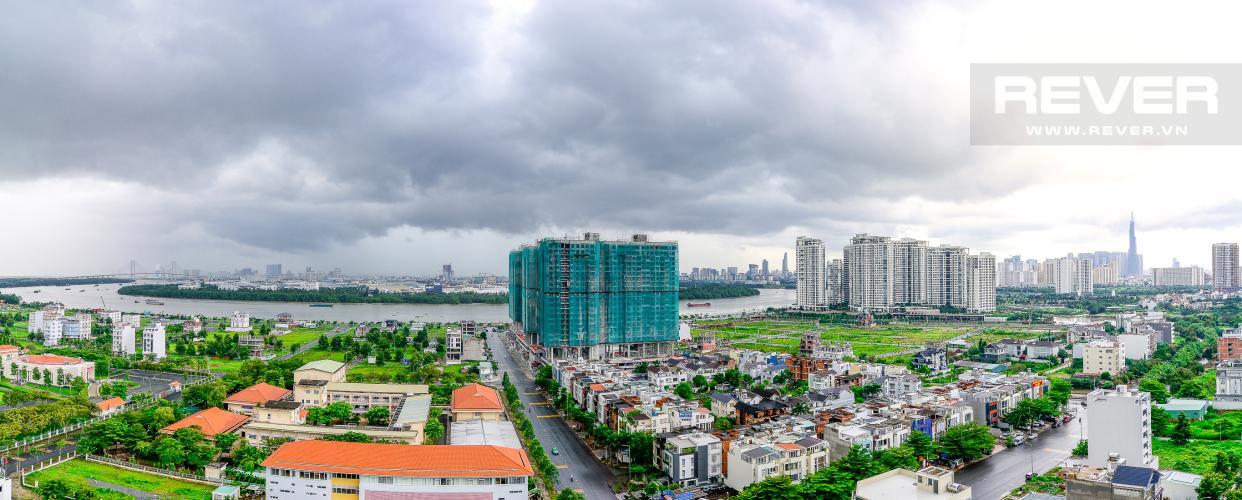 View Cho thuê căn hộ Waterina Suites 3PN, tầng trung, nội thất cơ bản, view sông và Landmark 81