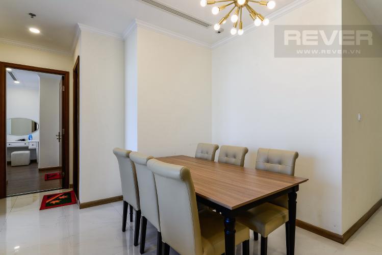 Phòng Ăn Căn hộ Vinhomes Central Park, tháp Landmark Plus, 2PN đầy đủ nội thất