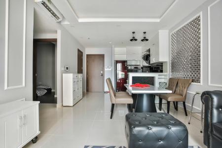 Căn hộ The Tresor 2 phòng ngủ tầng trung TS1 nội thất đầy đủ
