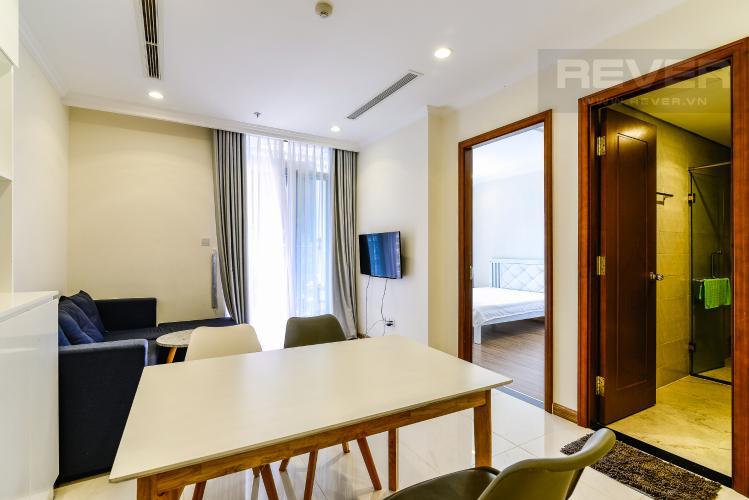 Phòng Khách Căn hộ Vinhomes Central Park 1 phòng ngủ tầng cao L3 hướng Đông Bắc