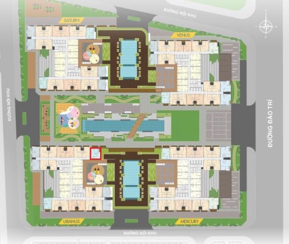 Layout tổng quan Q7 Sài Gòn Riverside Căn hộ Q7 Saigon Riverside tầng 31, view nội khu.