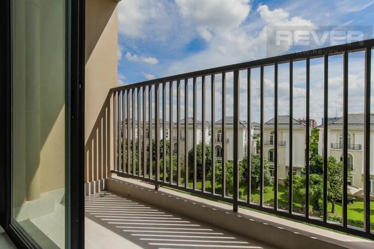 Balcony Bán căn hộ Jamila Khang Điền 2PN, tầng thấp, nội thất cơ bản, view khu dân cư ven sông