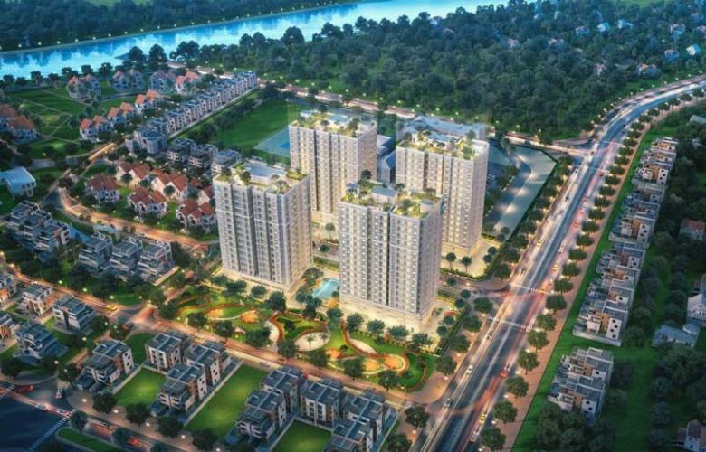 Building dự án Orchid Park Căn hộ Orchid Park tầng trung, đầy đủ nội thất, view thành phố.