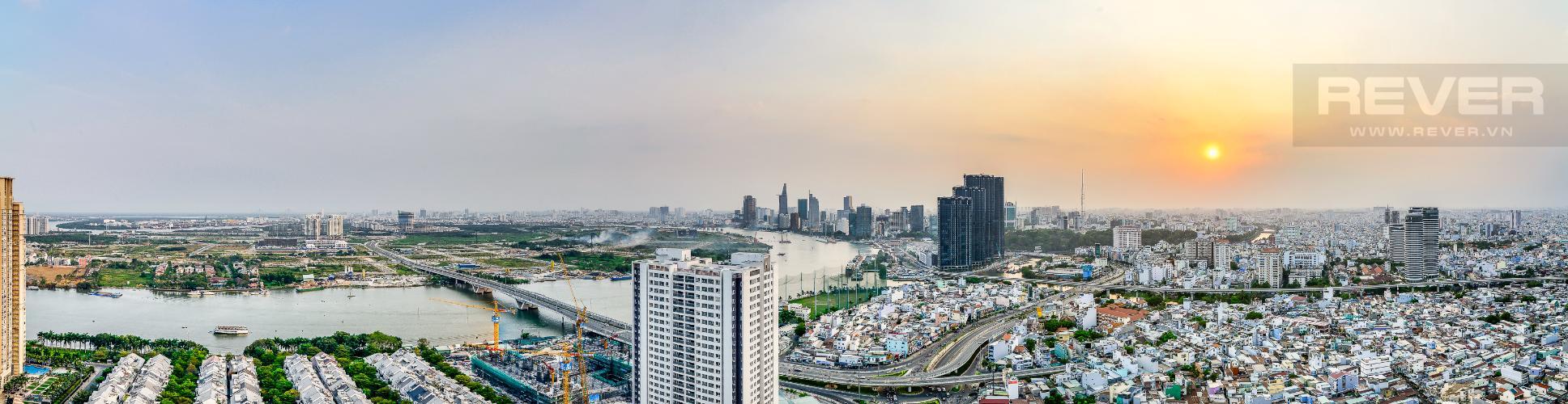 View Ban Công Penthouse Saigon Pearl tháp Sapphire diện tích 221m2 full nội thất