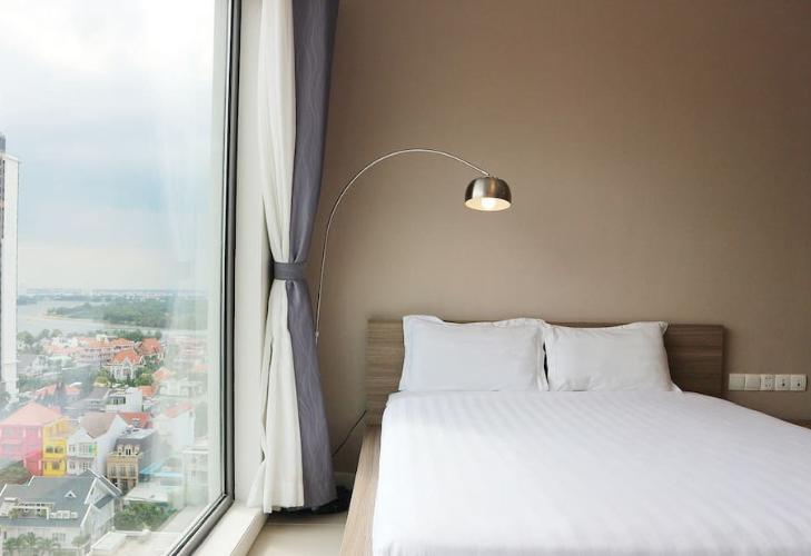 View chính diện OT Gateway Thảo Điền  Căn hộ Studio Gateway Thảo Điền tầng trung, ban công thoáng mát.