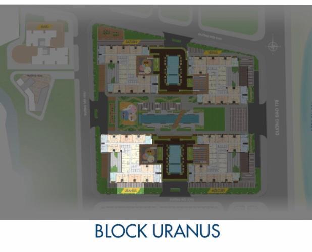 Block Uranus Căn hộ Q7 Saigon Riverside tầng cao, view đường Đào Trí.