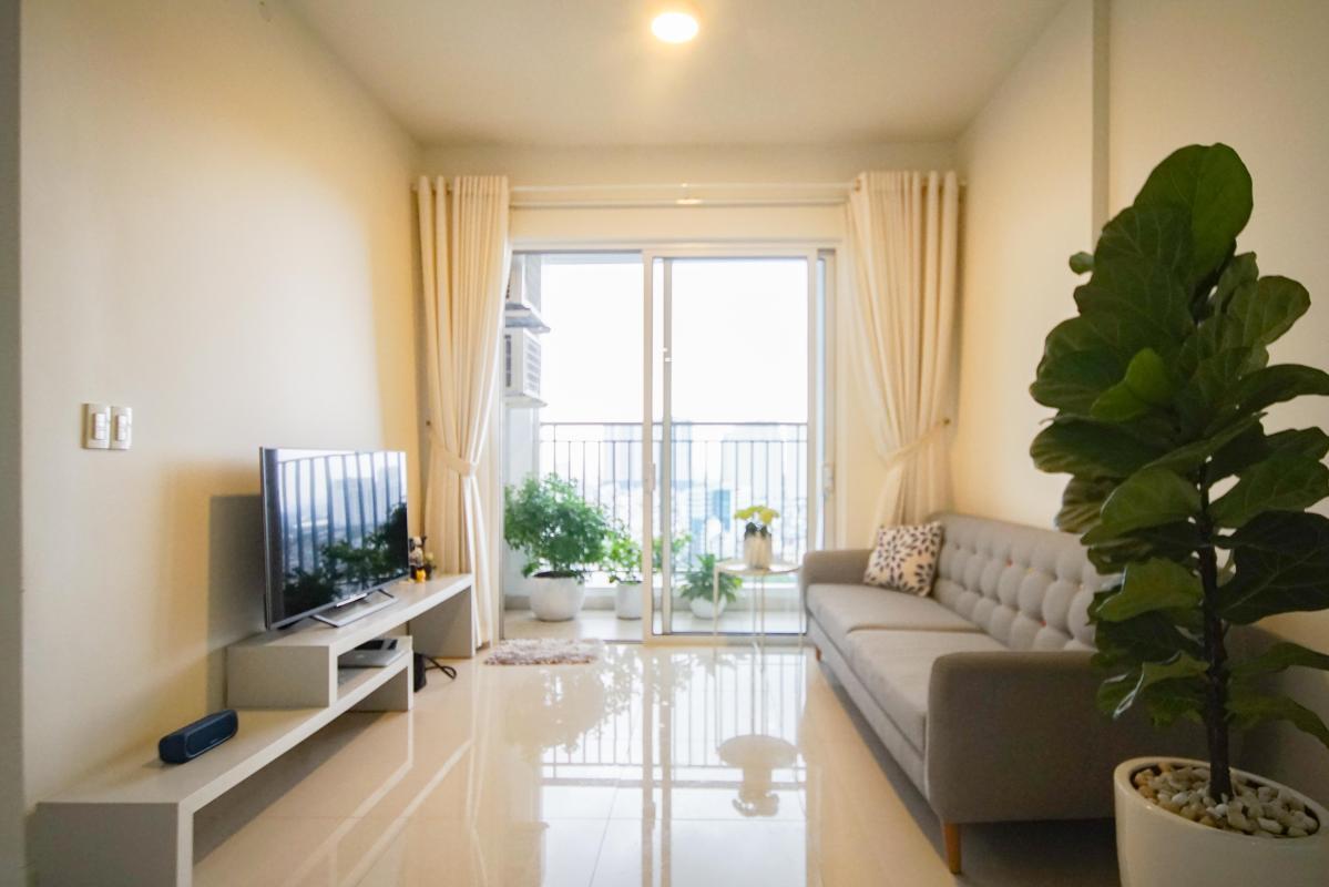1 Cho thuê căn hộ 2 phòng ngủ Galaxy 9, tầng cao, đầy đủ nội thất, view thành phố thoáng rộng