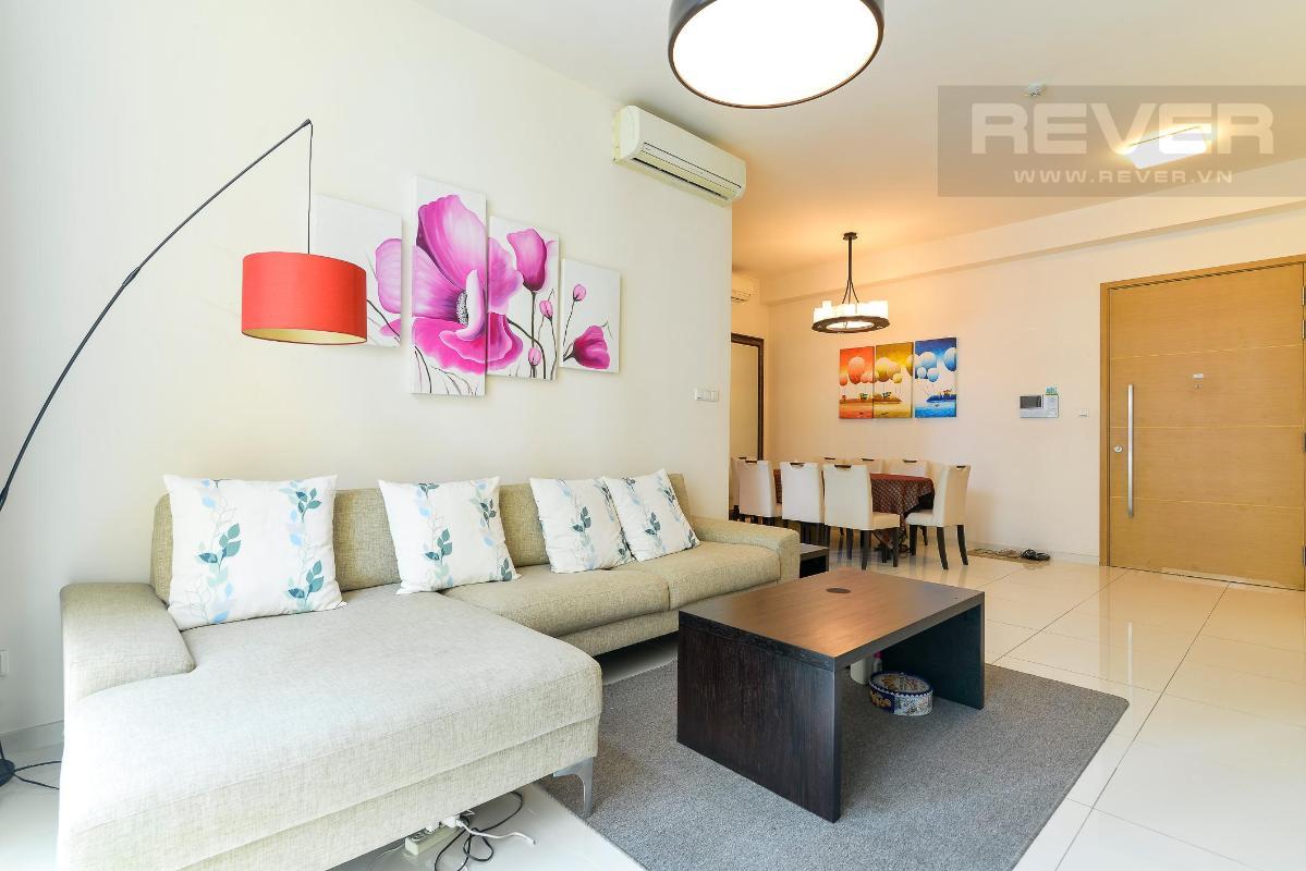 Phòng khách Cho thuê căn hộ The Vista An Phú 2PN, diện tích 101m2, đầy đủ nội thất, view hồ bơi yên tĩnh