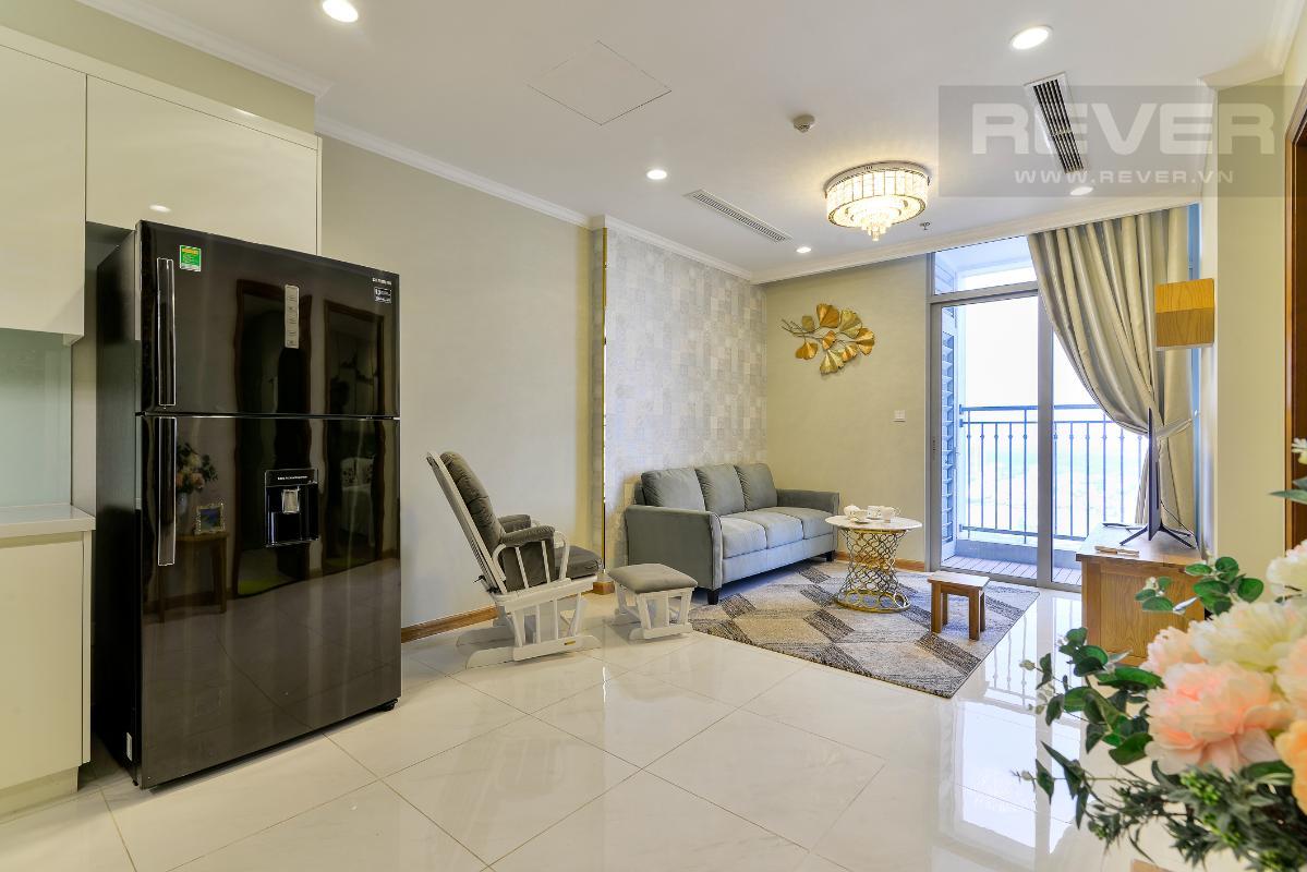 _DSC3973 Bán căn hộ Vinhomes Central Park 1PN, tháp Landmark 3, diện tích 54m2, đầy đủ nội thất, view sông