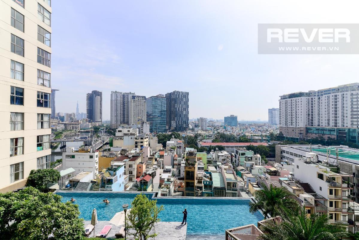 f097c41bdc6b3a35637a Cho thuê căn hộ Masteri Millennium 2PN, block A, diện tích 65m2, đầy đủ nội thất, view hồ bơi mát mẻ