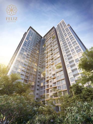 Toàn cảnh Feliz En Vista Căn hộ Feliz En Vista đầy đủ nội thất, ban công hướng Đông Nam.