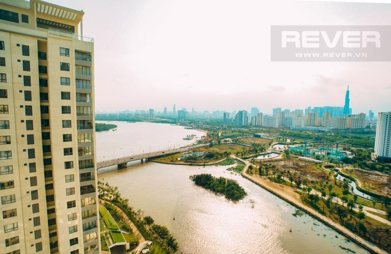 View 2 Bán căn hộ Đảo Kim Cương 2 phòng ngủ tầng cao tháp Bora Bora, view Bitexco và sông Sài Gòn