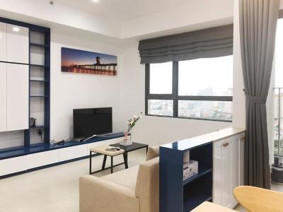 Căn góc Masteri Thảo Điền 2 phòng ngủ tầng trung T3 ful nội thất