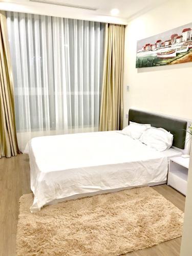 Phòng ngủ căn hộ Vinhomes Central Park Cho thuê căn hộ Vinhomes Central Park 2PN, tháp Landmark 6, diện tích 78m2, đầy đủ nội thất