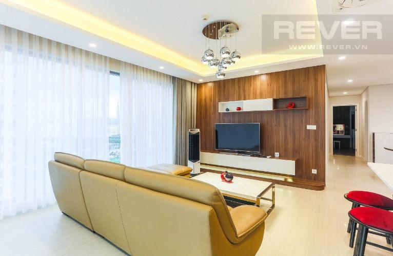 Phòng Khách Căn hộ Diamond Island - Đảo Kim Cương tầng cao, 3PN đầy đủ nội thất, view hồ bơi