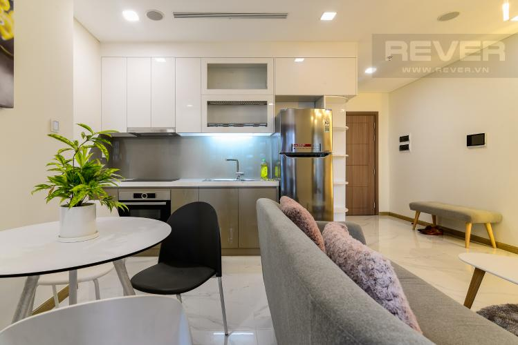 Phòng Ăn & Bếp Cho thuê căn hộ Vinhomes Central Park 48m2, nội thất hạng sang, view thành phố
