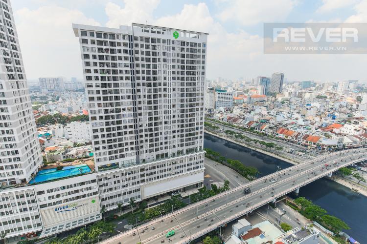 View Căn hộ Masteri Millennium tầng cao 2PN đầy đủ nội thất view sông