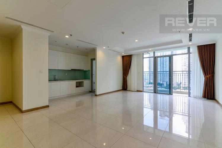 Phòng Khách Bán căn hộ Vinhomes Central Park 3PN tầng trung tháp C3, diện tích lớn 121m2, không gian yên tĩnh