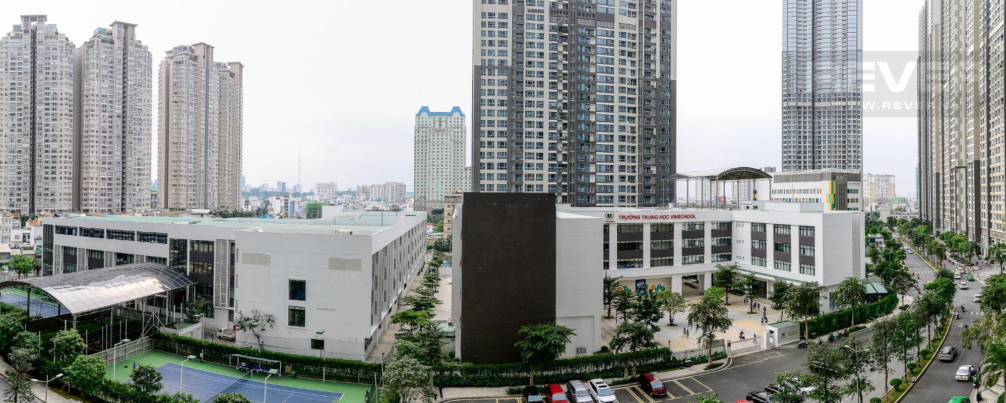 View Cho thuê căn hộ Vinhomes Central Park 2PN, tầng thấp, diện tích 75m2, đầy đủ nội thất, view nội khu