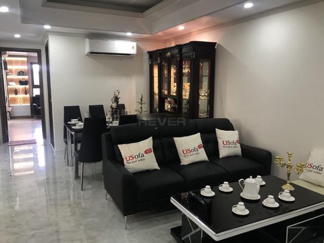 Phòng khách căn hộ Homyland 3, Quận 2 Căn hộ cao cấp HomyLand Riverside hướng Đông Nam, đầy đủ nội thất.